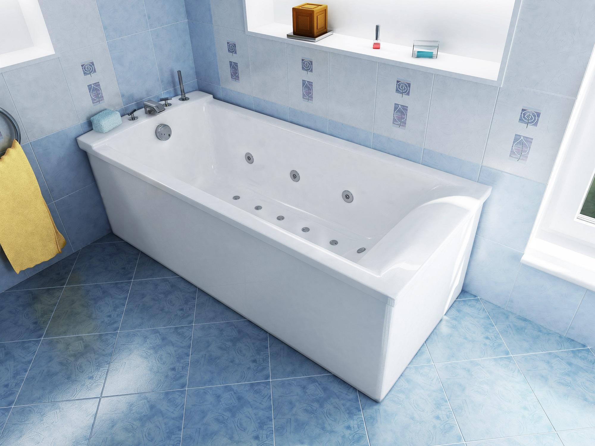 Установка ванны с обвязкой